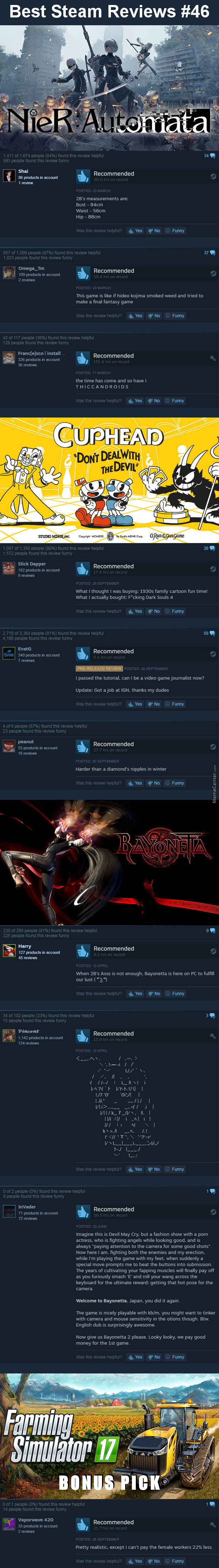 Best Steam Reviews #46 - 'member When I Used To Make These Weekly?