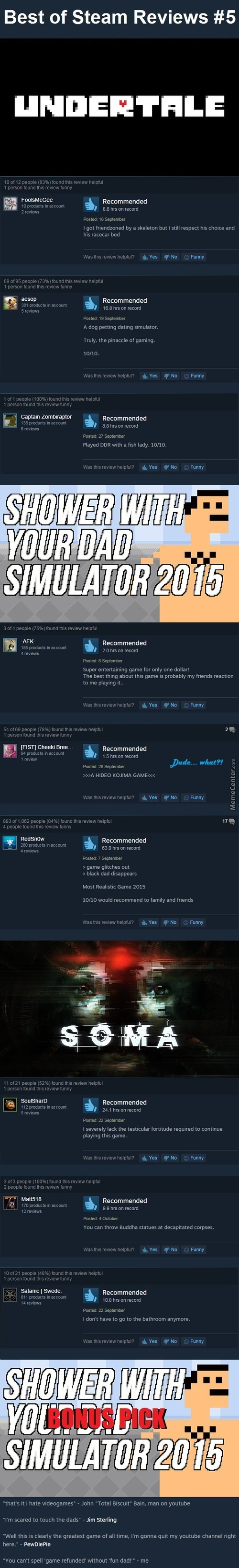 Best Steam Reviews #5 - Indie Games