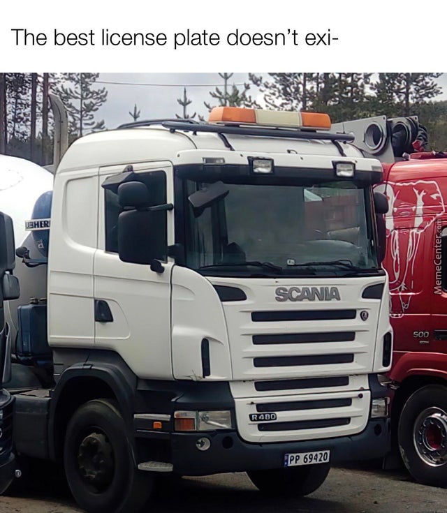 Big Pp Licence Plate