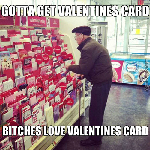 Bitches Love Valentines Card