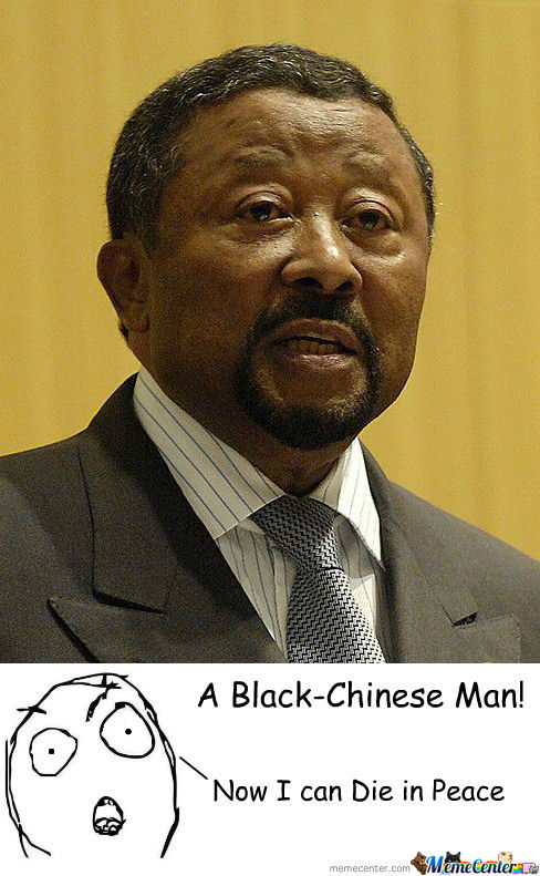 Black-Chinese Man