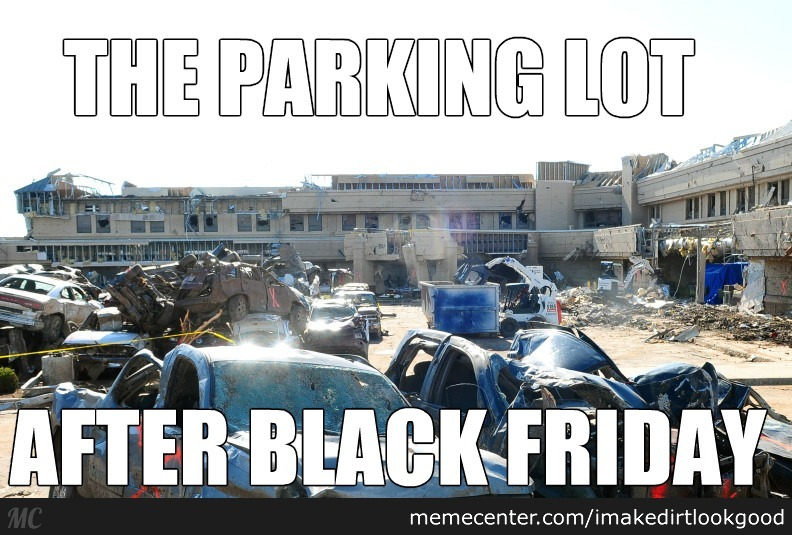 Black Fiday Parking Lot