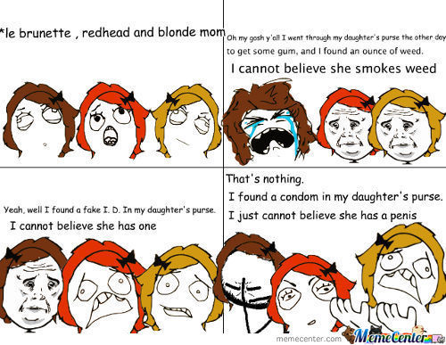 Blond brunette and redhead jokes