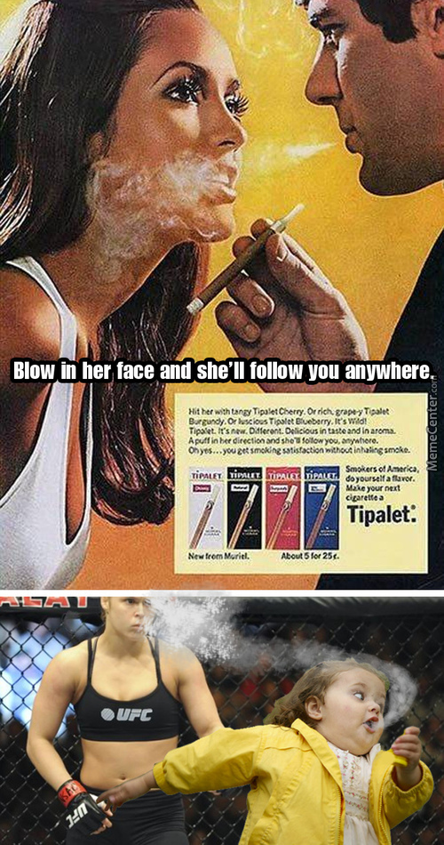 Blowing Smoke In A Womans Face.