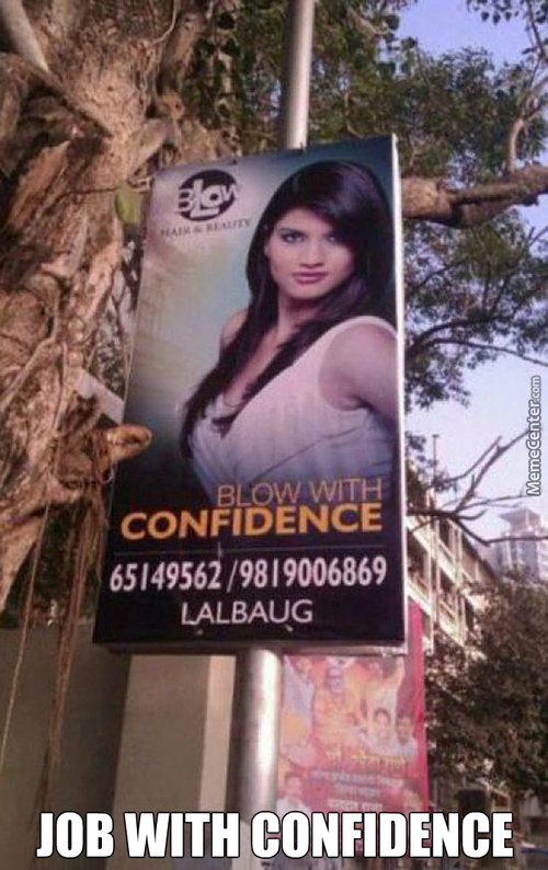Blowing The Confidence