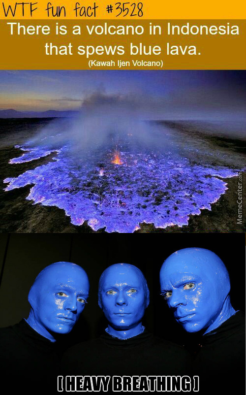 Blue Man Group Found Their Volcano!