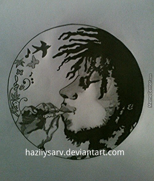 Bob Marley. Today's 70Th Yera (This Is The Drawings Of The Guy Who Helps Me, He's Definetly A Boss)