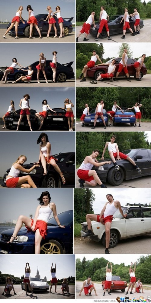 Boys Vs Girls Posing