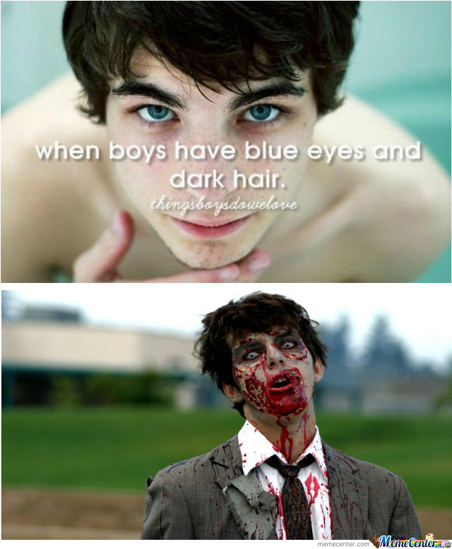 Boys With Blue Eyes And Dark Hair .... I Totally Get It
