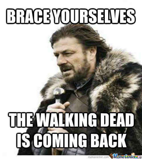 Brace Yourselves. The Brace Yourselves, The Walking Dead Memes Are Coming.