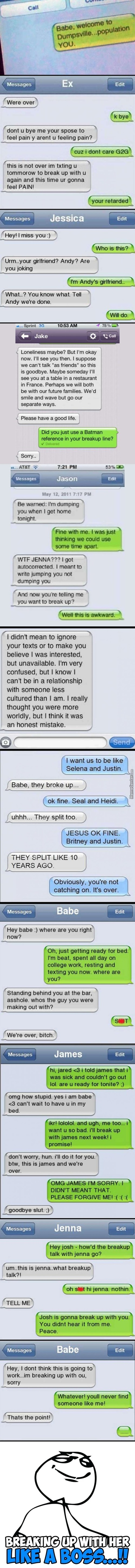 Break-Up Texts Compilation