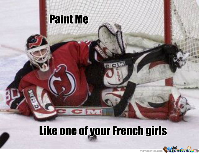Brodeur Trying To Be Sexy