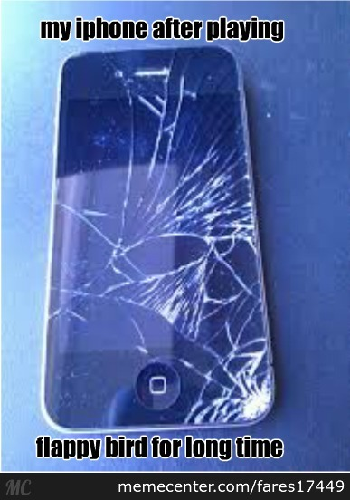 broken iphone meme broken iphone thanks to flappy bird by fares17449 meme 4580