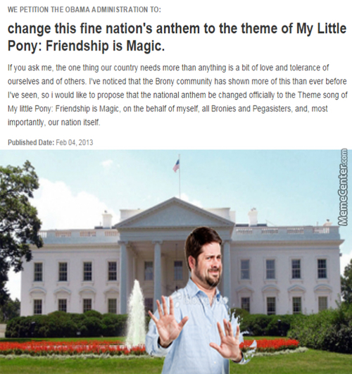 Bronies Want To Change The Fine Nation's Anthem
