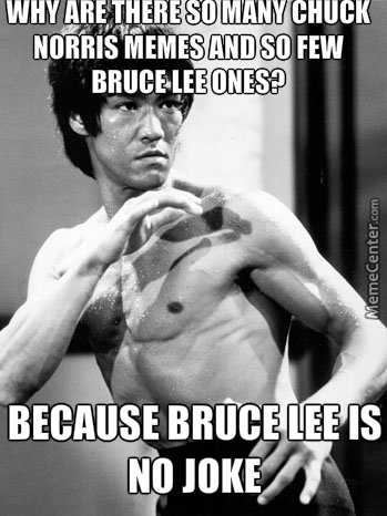 bruce lee is no joke compared to chuck norris_o_5279327 bruce lee is no joke compared to chuck norris by thehelper900