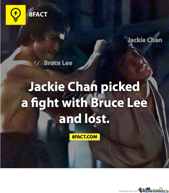 bruce lee vs jackie chan by mixra meme center