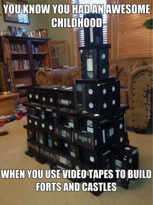 Building Forts, Castles And Other Stuff Using Video Tapes