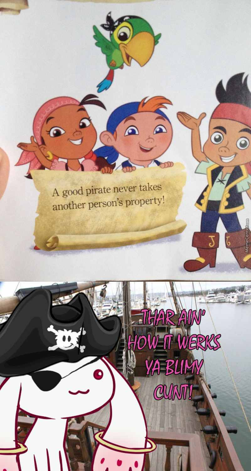 Buncha Wankers And Their Knowledge Of Pirates by metallion - Meme Center