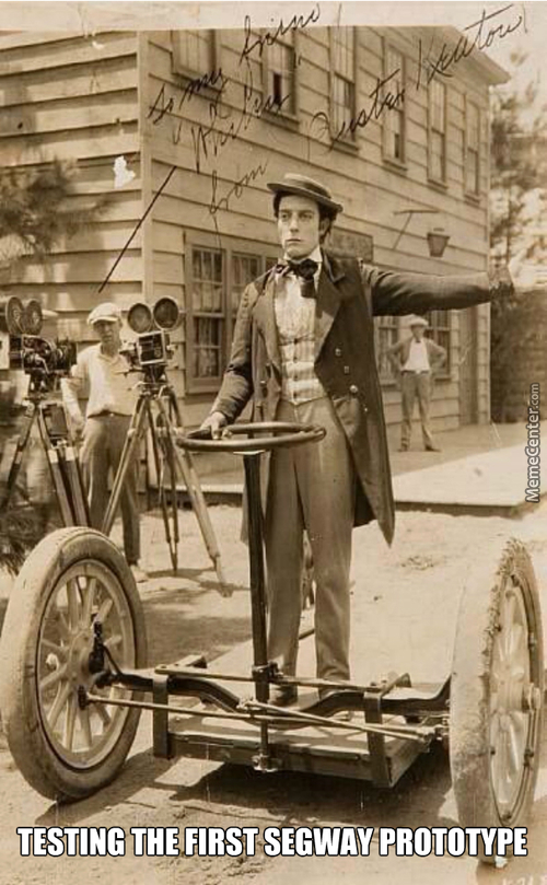 Buster Keaton As Test Driver