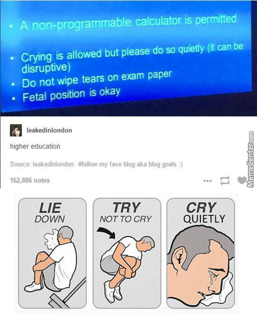 But Can I Blow My Nose With The Exam Papers?