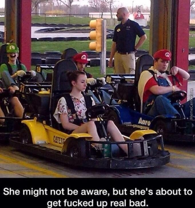 But She Might Get The Blue Shell