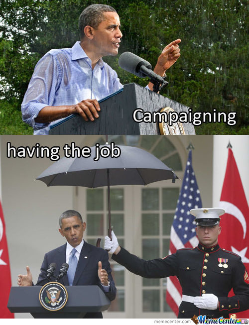 Campaigning Vs Having The Job
