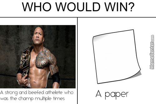 Can He Defeat A Champ Like The Rock ?