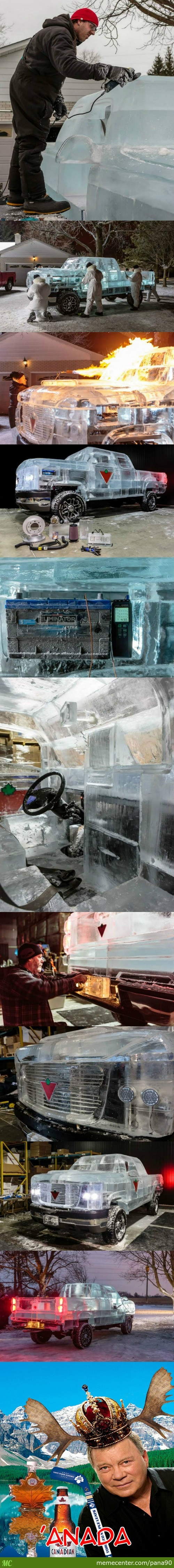 Canadians Build A Truck Out Of Ice