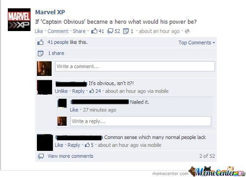 Captain Obvious' Powwaahh