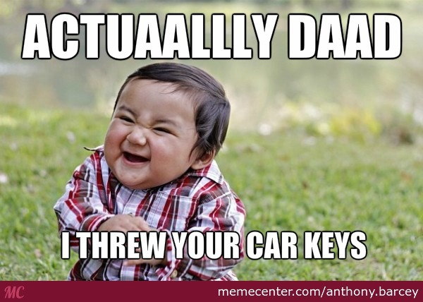 car keys lost look 4 toddler_o_2720649 car keys lost look 4 toddler by anthony barcey meme center