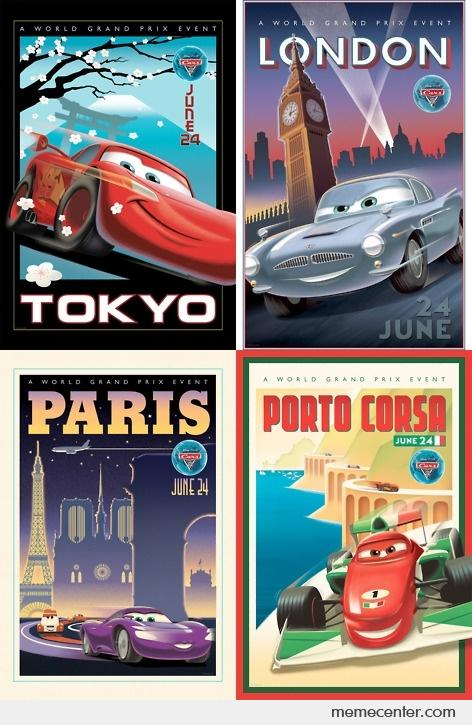 Cars 2 Vintage Posters By Ben Meme Center