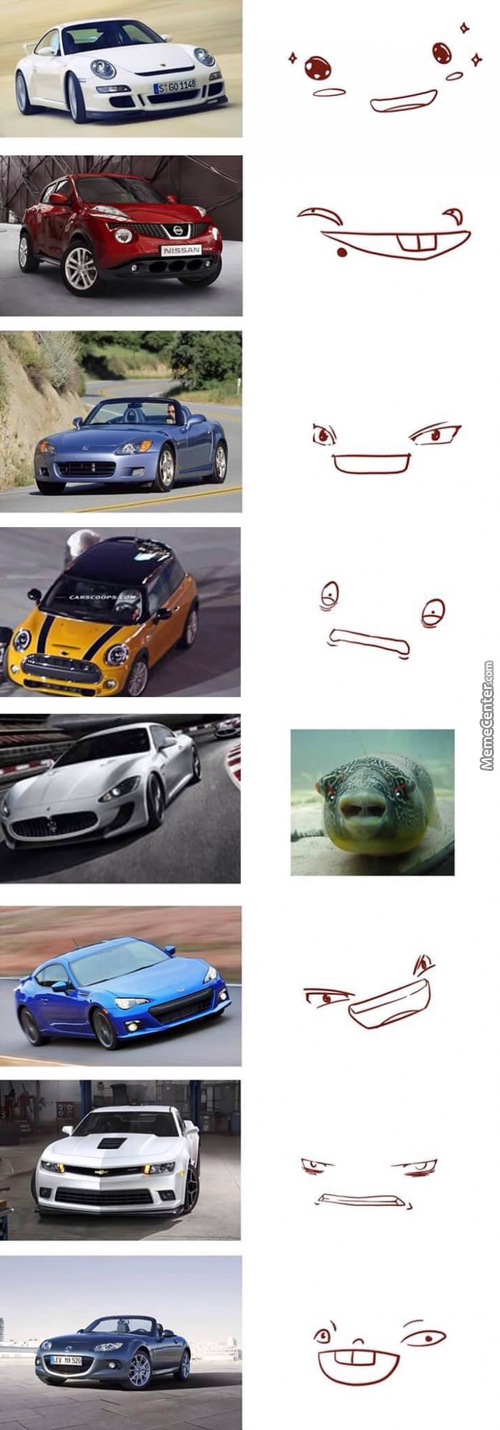 Cars With Faces!! :3