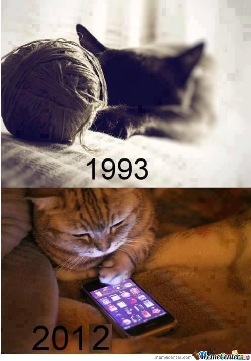 Cat From Old To Modern By Bzero Meme Center