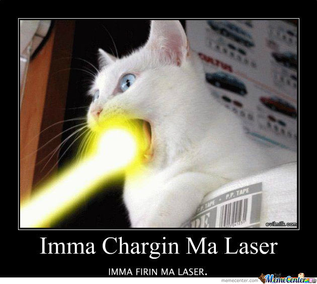 Cat Laser Eyes Meme