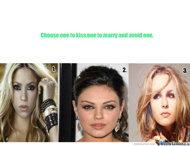 Snog, Marry or Avoid: Celebrity Edition - Survey