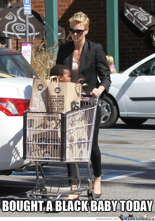 Charlize Theron Bought A Black Baby