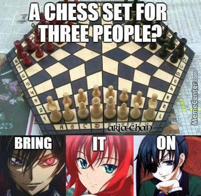Chess Games High School Dxd And Code Geass And Black Butler