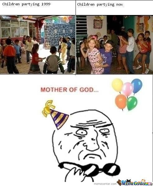 Children Partying.. 1999 And 2012