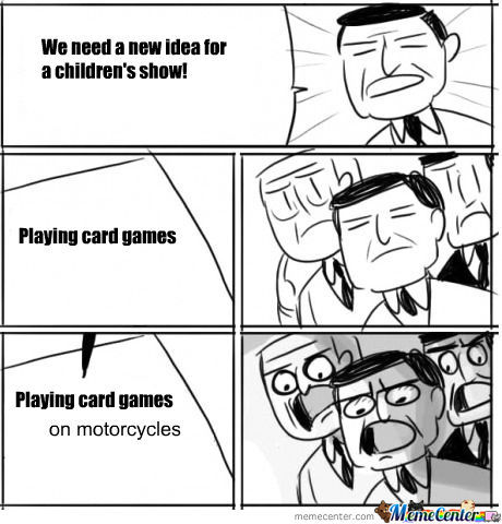 childrens card games on motorcycles_o_447806 children's card games on motorcycles! by pikachu meme center