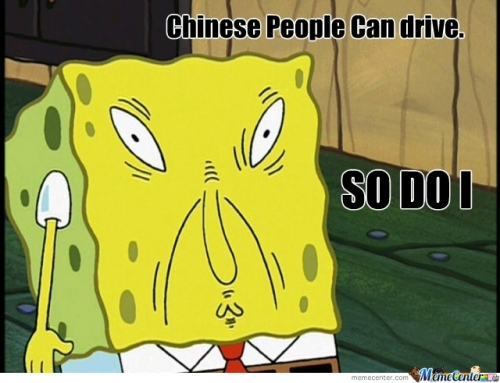 chinese people can drive!