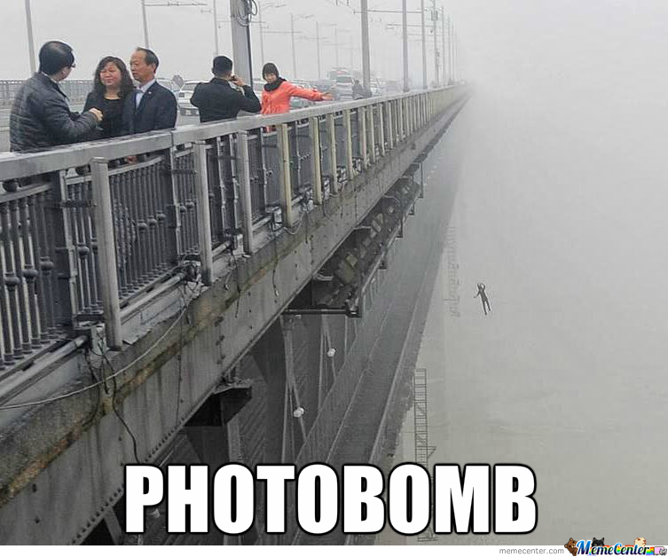 Chinese Photobomb