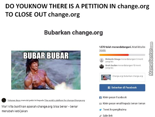 Chnage.org Petition To Kill Itself Link:https://chn.ge/2Nkwv4F