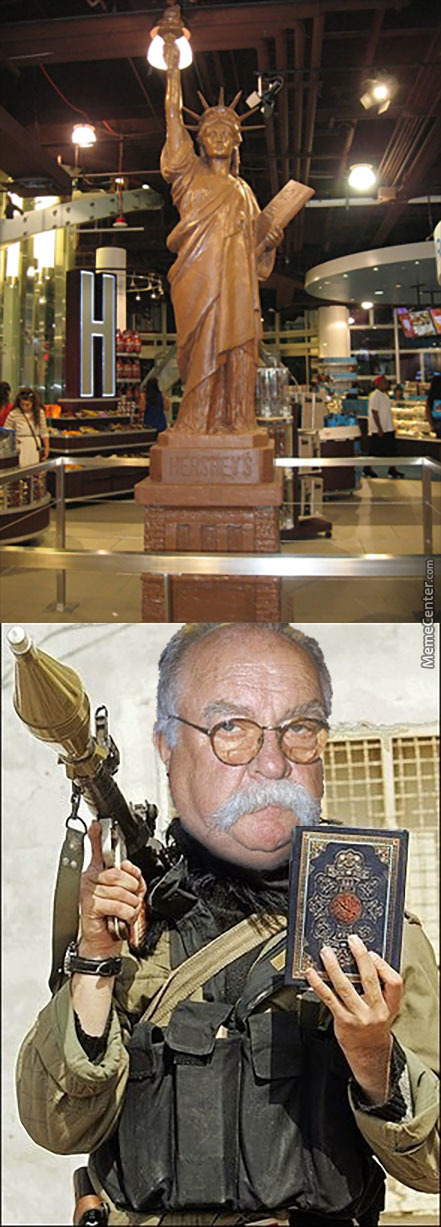 Chocolate Statue Of Liberty? Absolutely Halal!