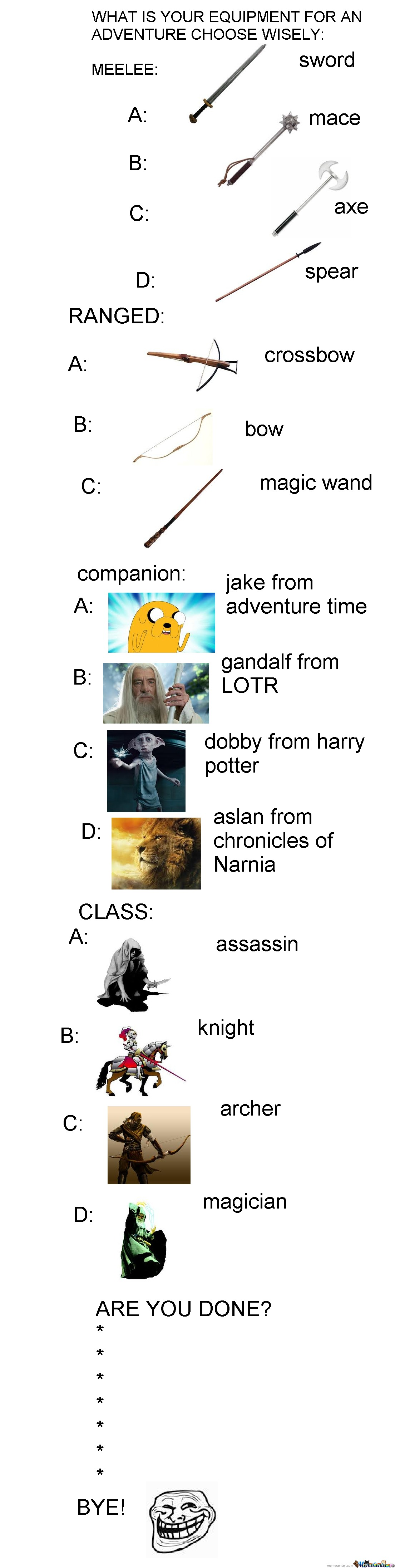 Choose Your Adventure