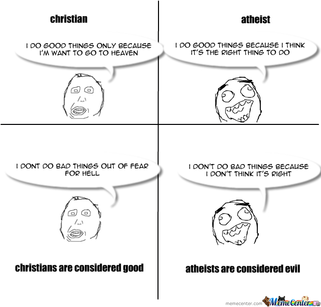 christians vs atheists_o_1971987 christians vs atheists by recyclebin meme center