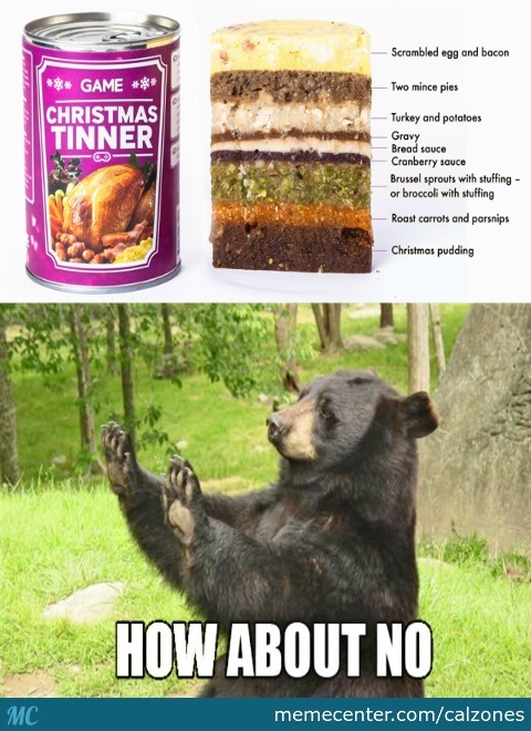 Christmas Dinner In A Tin.Christmas Dinner In A Tin For Gamers By Calzones Meme Center