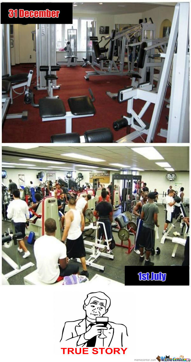 Christmas Gym: Before And After