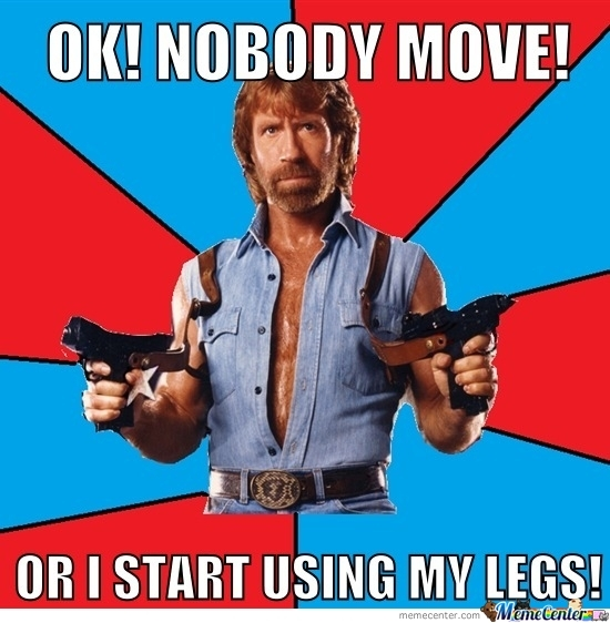 Chuck- No Body Move!
