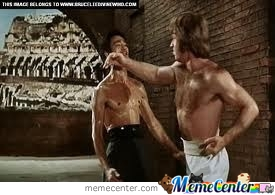 Chuck Norris Beat Bruce Lee In One Punch by captain - Meme Center