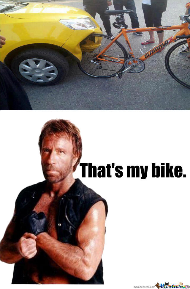Chuck Norris Bike By Kyoko Meme Center